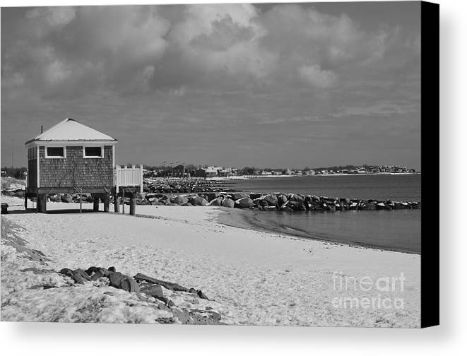 Cape Cod Massachusetts Canvas Print featuring the photograph Cape Cod Winter Morning by Catherine Reusch Daley