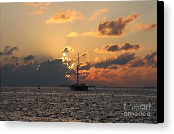 Sunset Canvas Print featuring the photograph Marelous Key West Sunset by Christiane Schulze Art And Photography