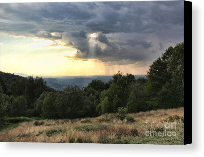 Storm Is Coming Canvas Print featuring the photograph Storm Is Coming by Mariola Bitner