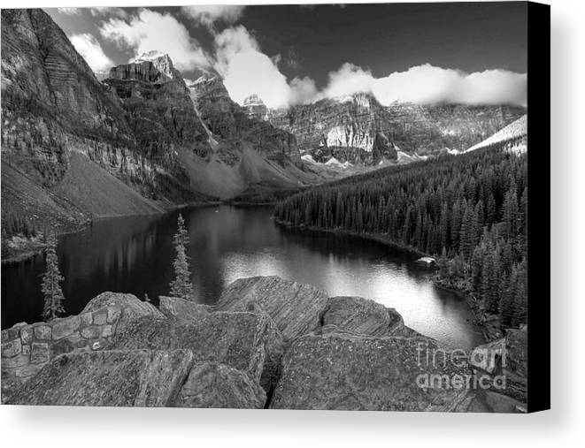 Moraine Canvas Print featuring the photograph 0166 Moraine Lake by Steve Sturgill