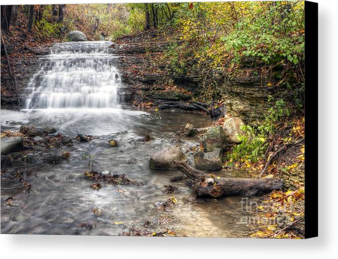 Water Canvas Print featuring the photograph 0278 South Elgin Waterfall by Steve Sturgill