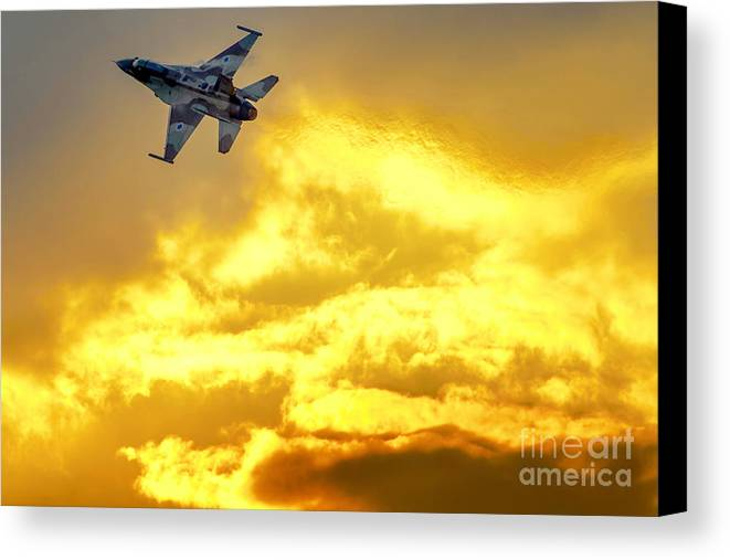 Iaf Canvas Print featuring the photograph 1-iaf F-16i Fighter Jet by Nir Ben-Yosef