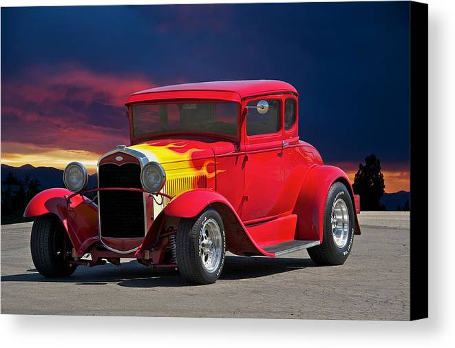 Coupe Canvas Print featuring the photograph 1931 Ford 'model A' Coupe by Dave Koontz