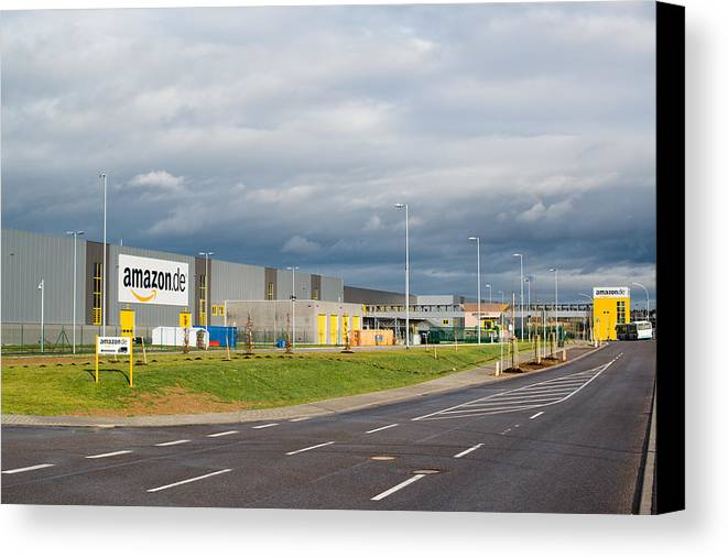 Amazon Canvas Print featuring the photograph Amazon Warehouse by Frank Gaertner