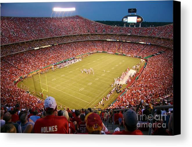 Arrowhead Stadium Kansas City Missouri Canvas Print / Canvas Art by ...