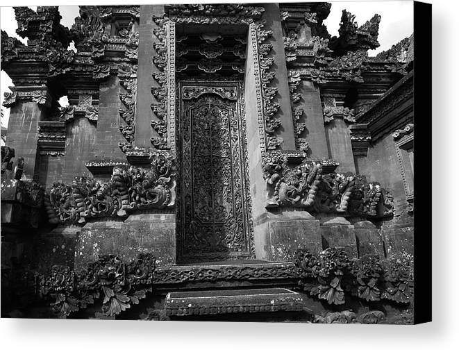 Temple Canvas Print featuring the photograph Balinese Hindu Temple by August Timmermans