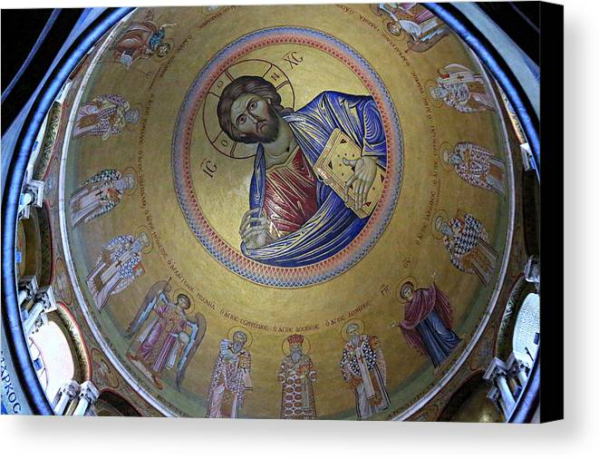 Christ Pantocrator Canvas Print featuring the photograph Catholicon by Stephen Stookey