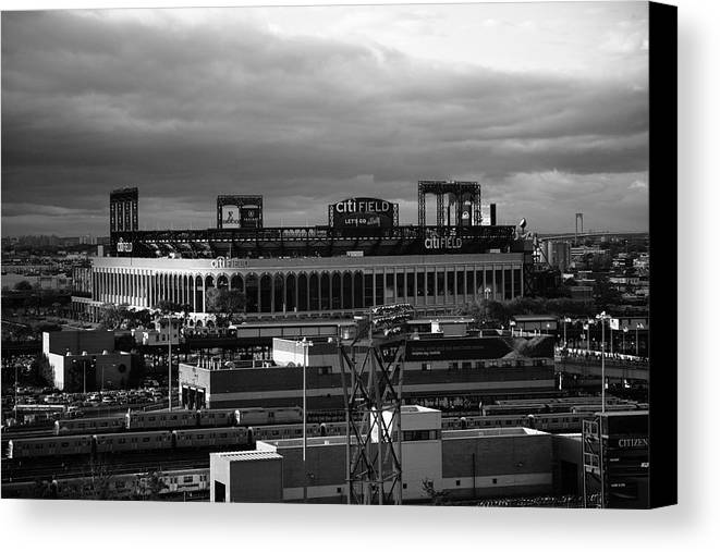 America Canvas Print featuring the photograph Citi Field - New York Mets by Frank Romeo