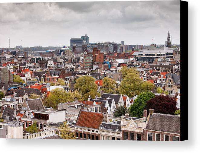 Amsterdam Canvas Print featuring the photograph City Of Amsterdam From Above by Artur Bogacki