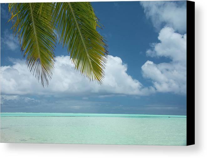 Aitutaki Canvas Print featuring the photograph Cook Islands, Aitutaki (aka Araura by Cindy Miller Hopkins