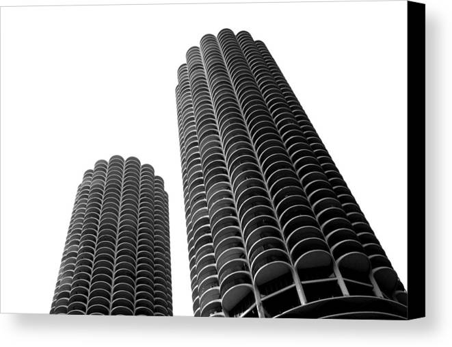Chicago Canvas Print featuring the photograph Corn Buildings Chicago by Admir Gorcevic