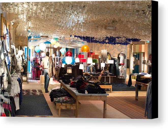 Desigual Canvas Print featuring the photograph Desigual Fashion Store by Frank Gaertner