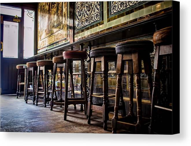 Barstools Canvas Print featuring the photograph Have A Seat by Heather Applegate