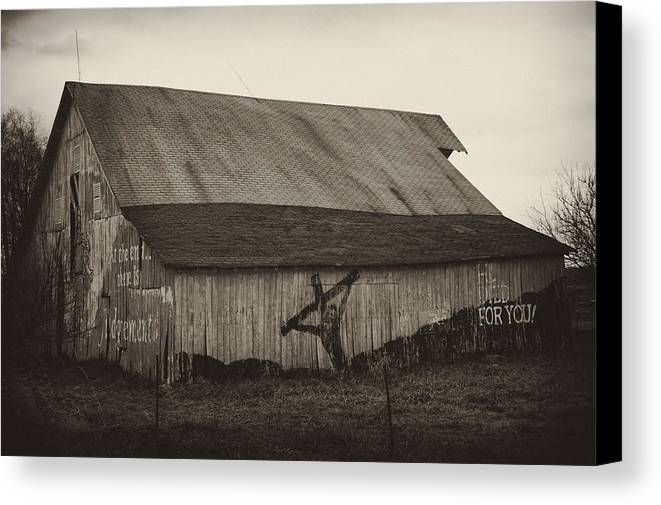 Barn Canvas Print featuring the photograph He Died For You by Off The Beaten Path Photography - Andrew Alexander