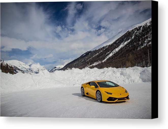 Lamborghini Canvas Print Featuring The Photograph Lamborghini Huracan By  Giulio Tarquinio