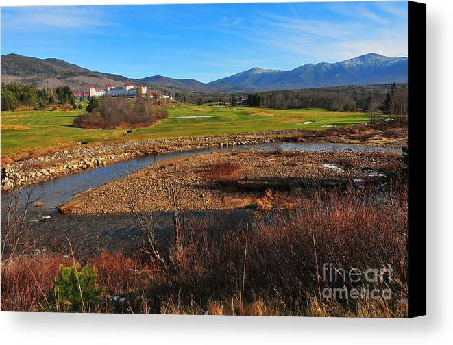 The Mount Washington Hotel Canvas Print featuring the photograph Mount Washington by Catherine Reusch Daley