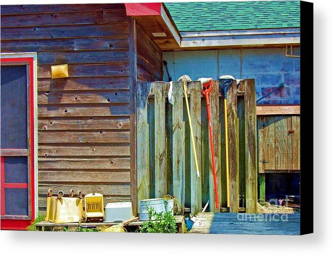 Building Canvas Print featuring the photograph Out To Dry by Debbi Granruth