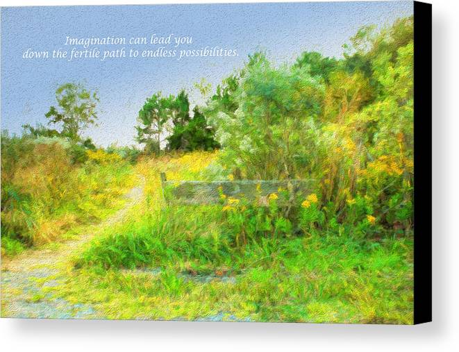 Path Canvas Print featuring the photograph Pathway To The River by Ola Allen