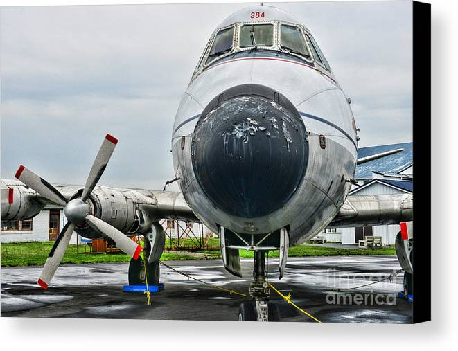 Paul Ward Canvas Print featuring the photograph Plane Noses Up by Paul Ward