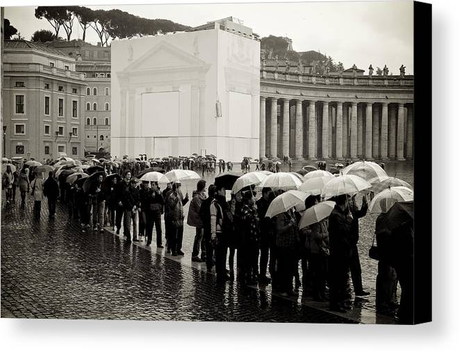 Rome Canvas Print featuring the photograph Rome 2010 by Aleksejs Volkovs