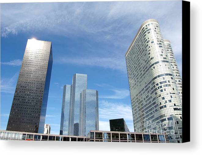 Architectural Canvas Print featuring the photograph Skyscrapers by Michal Bednarek