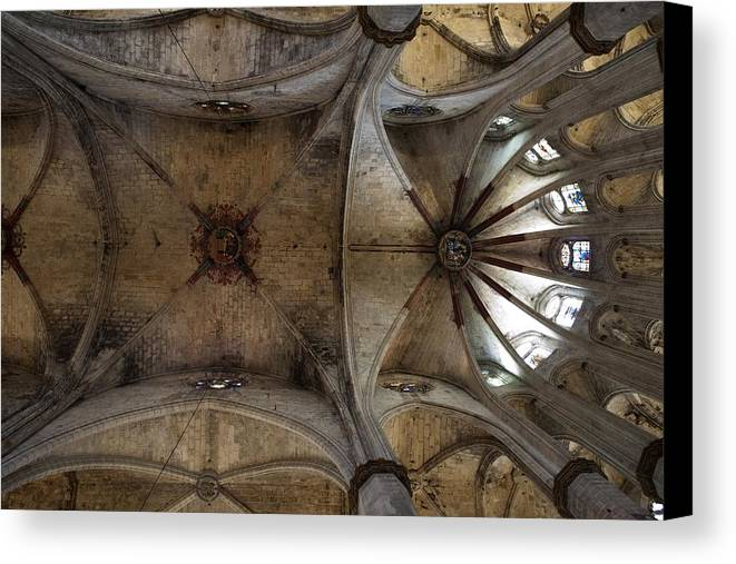 Europe Canvas Print featuring the photograph Spain. Barcelona. Church Of Santa Mar�a by Everett