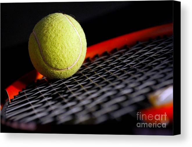 Accessory Canvas Print featuring the photograph Tennis Equipment by Michal Bednarek