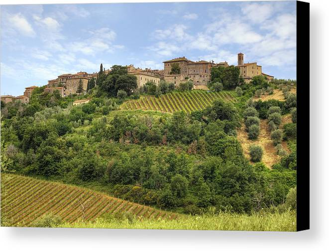 Castelnuovo Dell'abate Canvas Print featuring the photograph Tuscany - Castelnuovo Dell'abate by Joana Kruse