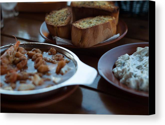 Tzatziki Canvas Print featuring the photograph Tzatziki Served On A Plate by Frank Gaertner
