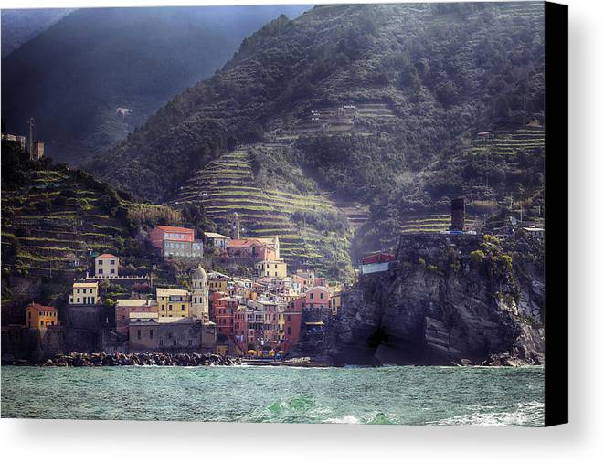 Vernazza Canvas Print featuring the photograph Vernazza by Joana Kruse