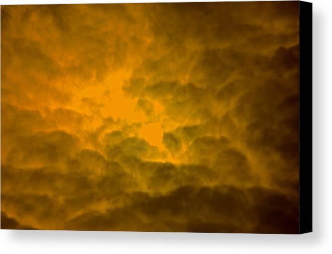 Art Clouds Landscape Sun Canvas Print featuring the photograph Art by Frank Conrad