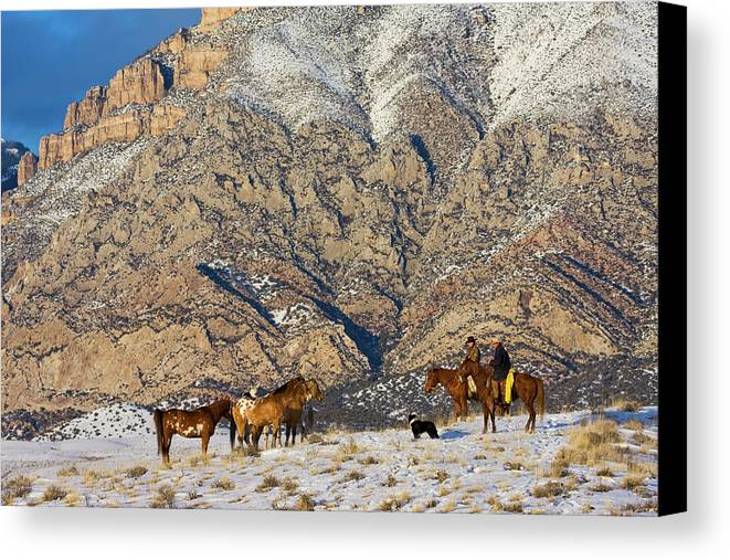 Background Canvas Print featuring the photograph North America, Usa, Wyoming, Shell by Terry Eggers