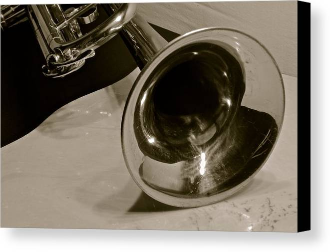 Art Music Instruments Trumpet Canvas Print featuring the photograph Art by Frank Conrad
