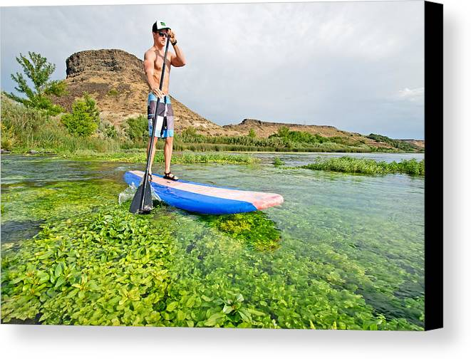 Elijah Weber Canvas Print featuring the photograph Standup Paddle Board by Elijah Weber