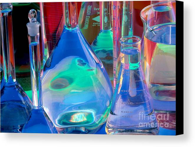 Science Canvas Print featuring the photograph Laboratory Glassware by Charlotte Raymond