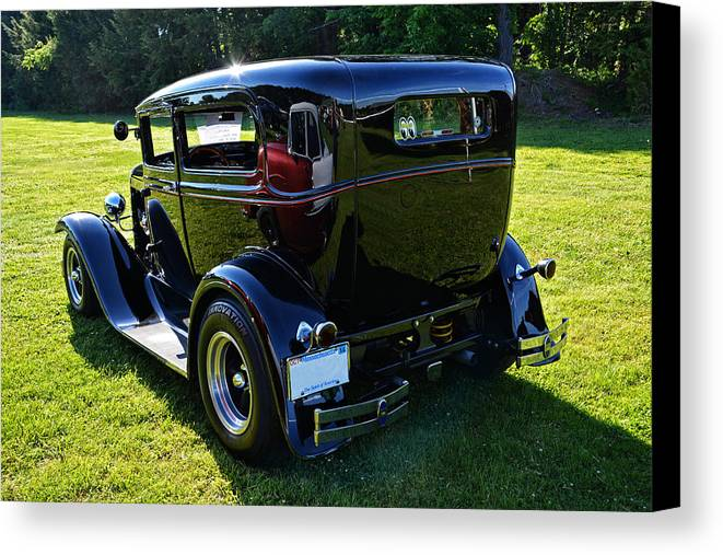 Ford Canvas Print featuring the photograph 1930 Ford Model A Sedan by Mike Martin