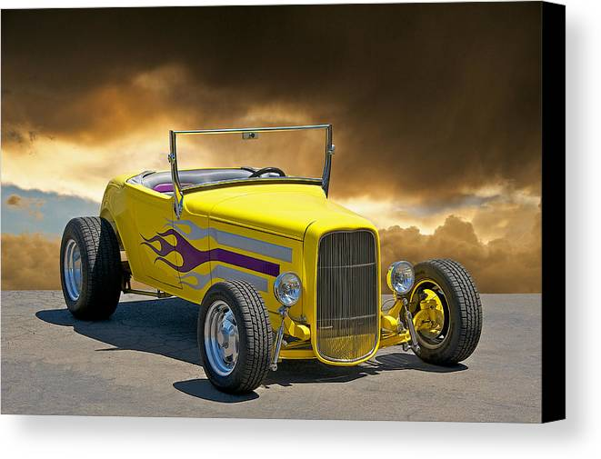 Coupe Canvas Print featuring the photograph 1930 Model A Roadster I by Dave Koontz