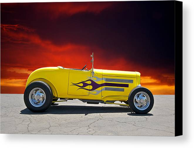 Coupe Canvas Print featuring the photograph 1930 Model A Roadster IIi by Dave Koontz