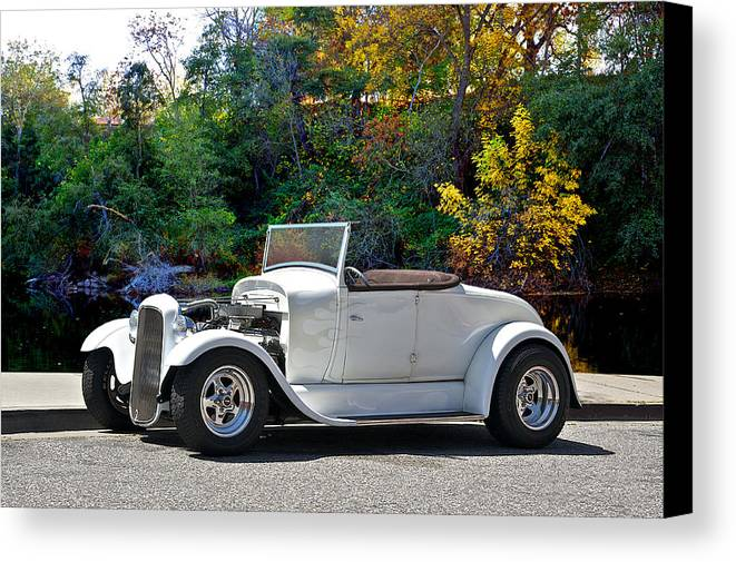 Coupe Canvas Print featuring the photograph 1931 Ford 'model A' Roadster by Dave Koontz