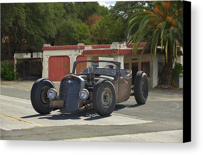 Coupe Canvas Print featuring the photograph 1931 Rataoulle 'rat Rod' by Dave Koontz