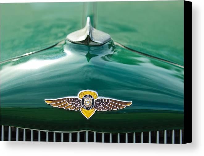 1934 Dodge Canvas Print featuring the photograph 1934 Dodge Hood Ornament Emblem by Jill Reger