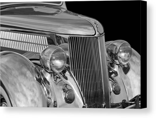 1936 Ford - Stainless Steel Body Canvas Print featuring the photograph 1936 Ford - Stainless Steel Body by Jill Reger