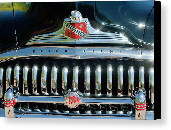 1947 Buick Canvas Print featuring the photograph 1947 Buick Sedanette Grille by Jill Reger