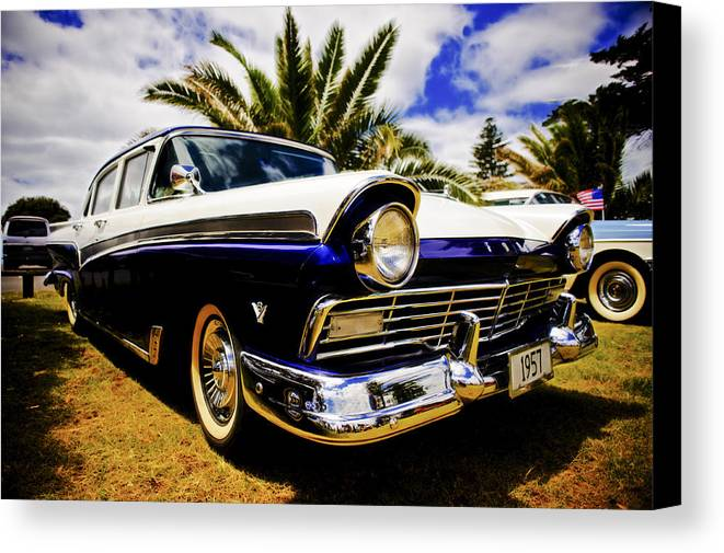 1957 Ford Custom Canvas Print featuring the photograph 1957 Ford Custom by motography aka Phil Clark