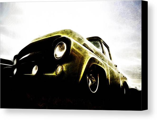 Ford Pickup Canvas Print featuring the photograph 1957 Ford F100 Pickup by motography aka Phil Clark