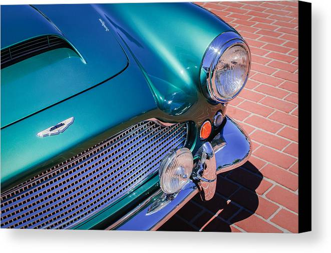 1960 Aston Martin Db4 Series Ii Grille Canvas Print featuring the photograph 1960 Aston Martin Db4 Series II Grille by Jill Reger