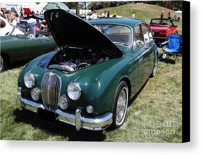 Transportation Canvas Print featuring the photograph 1962 Jaguar Mark II 5d23332 by Wingsdomain Art and Photography