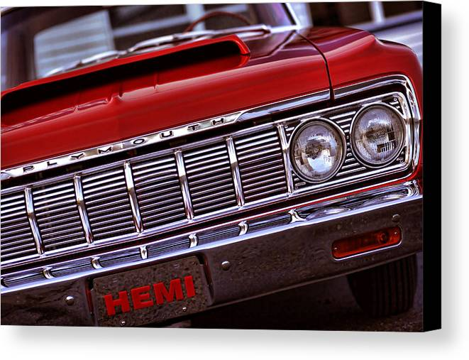 1964 Canvas Print featuring the photograph 1964 Plymouth Savoy by Gordon Dean II