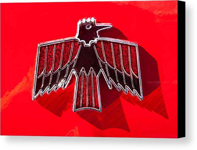 1967 Pontiac Firebird Emblem Canvas Print featuring the photograph 1967 Pontiac Firebird Emblem by Jill Reger