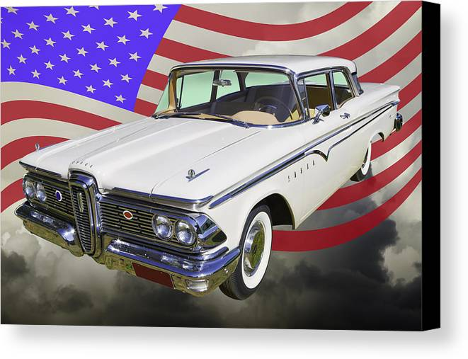 1959 Edsel Ranger Canvas Print Featuring The Photograph Ford By Keith Webber Jr